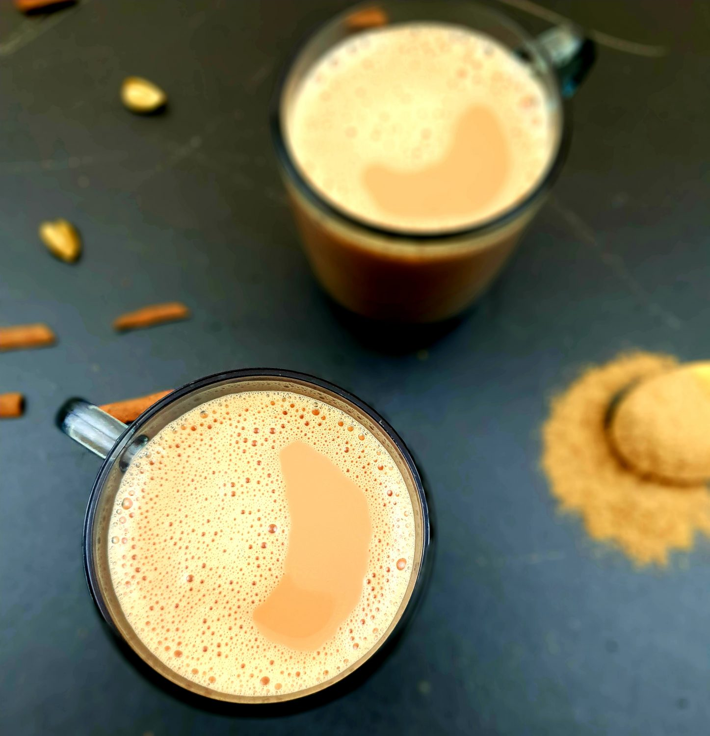 """Masala chai tea made with a special spice mix is a mixture of aromatic Indian spices used to prepare authentic Indian tea """"Masala Chai""""."""