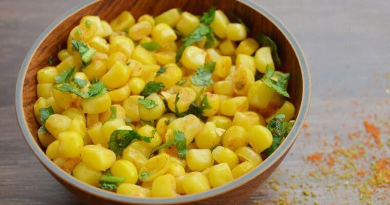 Masala Corn (Easy Sweetcorn Recipe + Video)