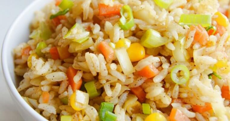 Corn Fried Rice (Vegan Sweetcorn Recipe)