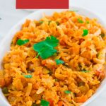 pin image with white text on red background saying vegetable kothu parotta.