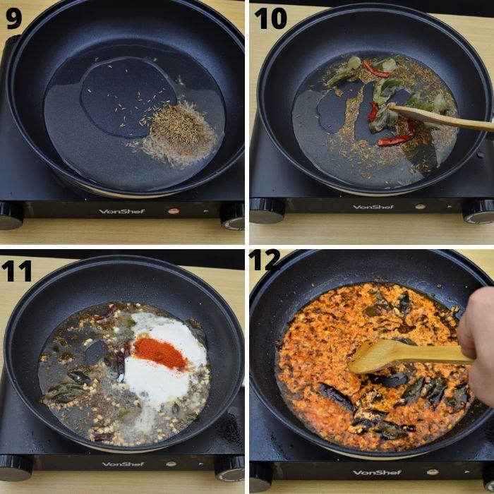 process of making a yogurt based sauce for potato 65.
