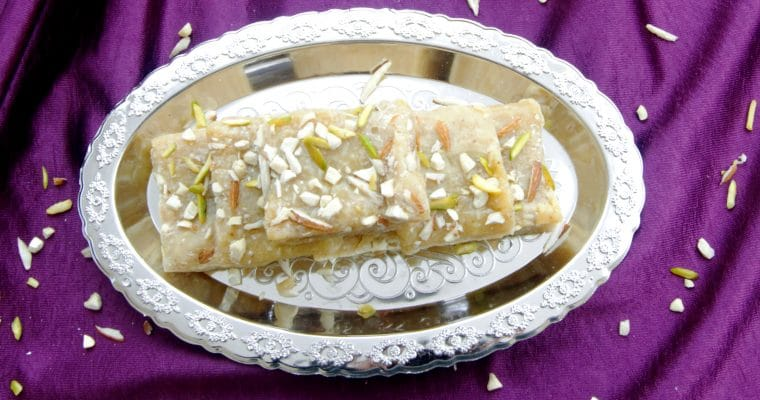 7 Cup Burfi (Gram Flour & Coconut Fudge + Video)