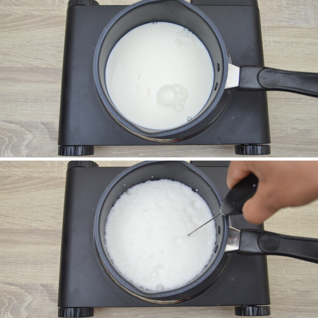 milk frothing process