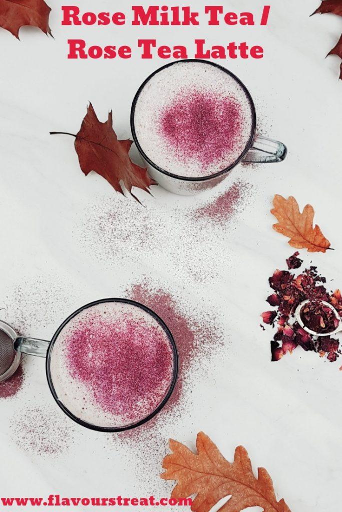 rose tea latte recipe