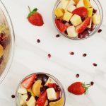 fruit salad in individual bowls