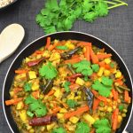 vegetable chettinad in a pan image for social sharing