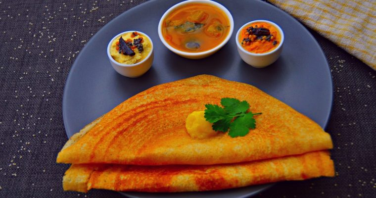 Millet Dosa (Diabetic friendly recipe with VIDEO)
