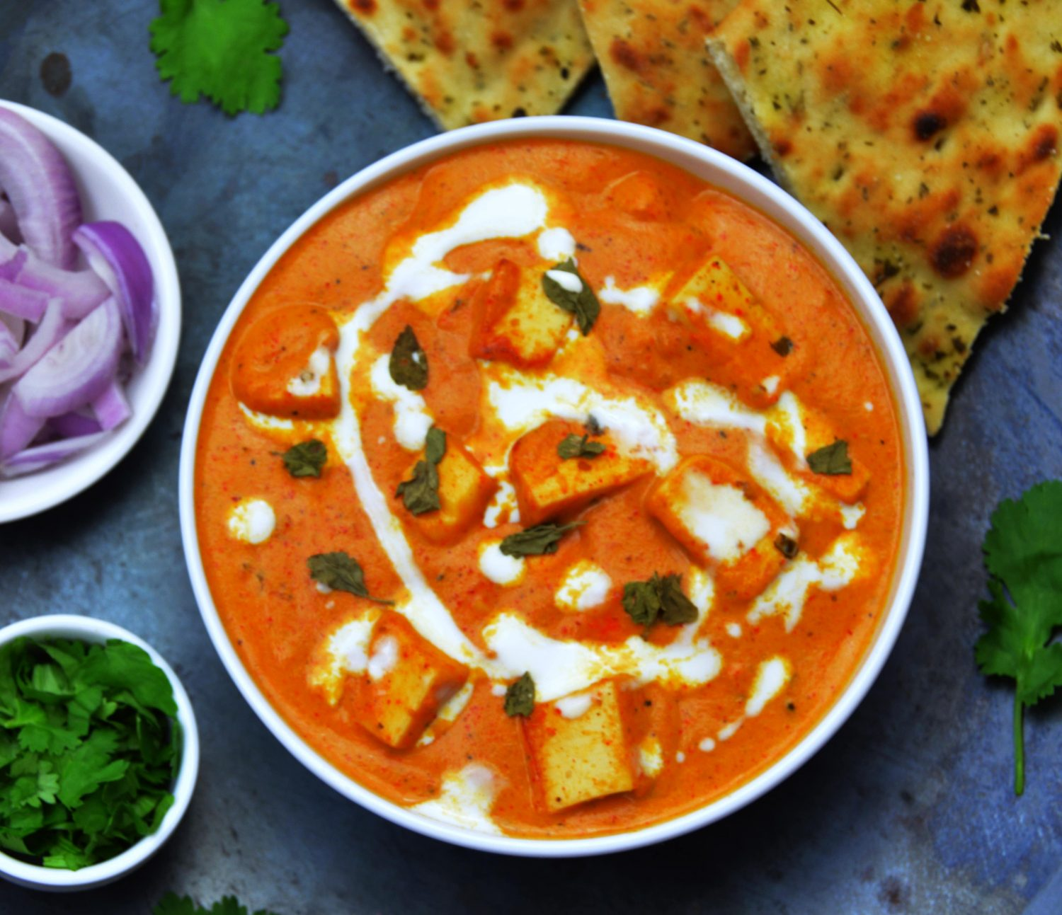 close up shot of paneer makhani