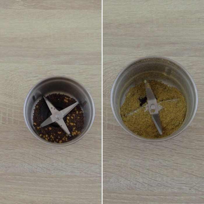 spices grinding process