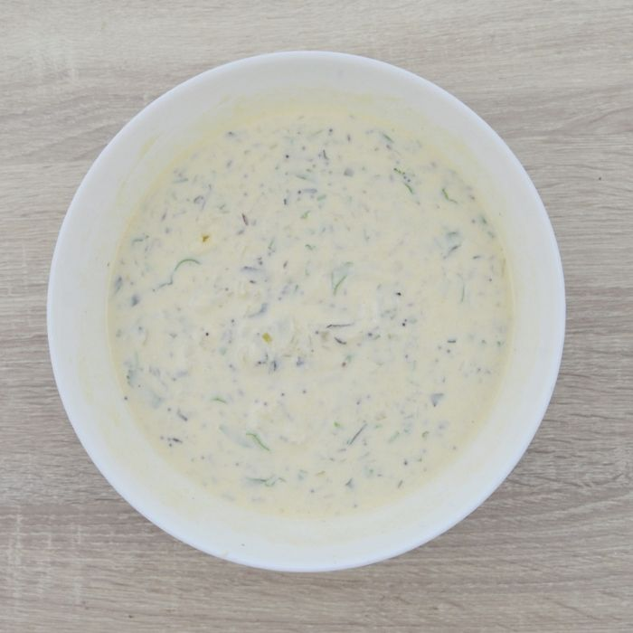 batter in a bowl for appe recipe