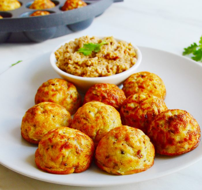 appe with chutney in a plate.