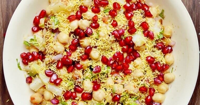 Chana Chaat Recipe (Chickpea Chaat)