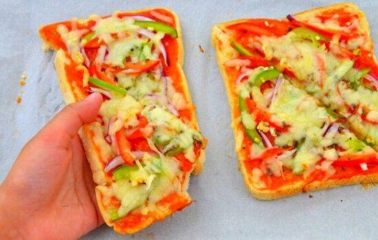 Bread Pizza Recipe (Kid-Friendly Recipe + Video)