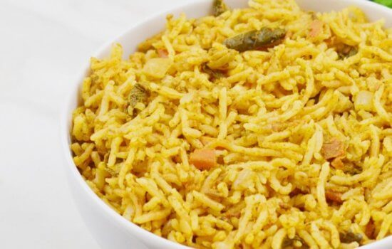 Mint Pulao (One-Pot Vegan Rice + Video)