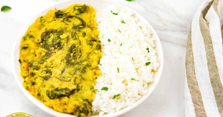 Dal Palak in Instant Pot (Video recipe)