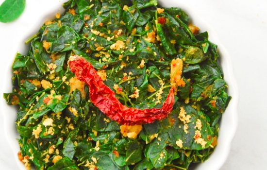 Drumstick Leaves Curry (Healthy, Oil-Free Moringa Leaves Recipe)