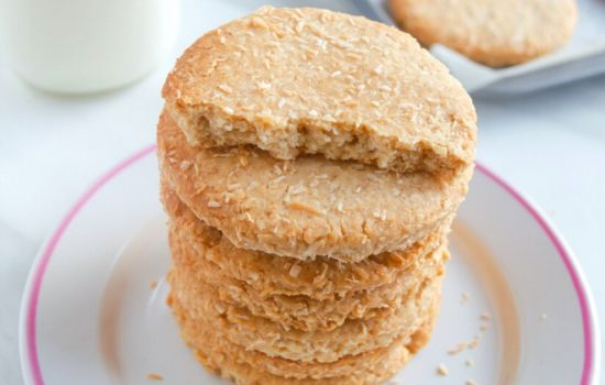 Butter Coconut Biscuits (Eggless Atta Biscuits + Video)