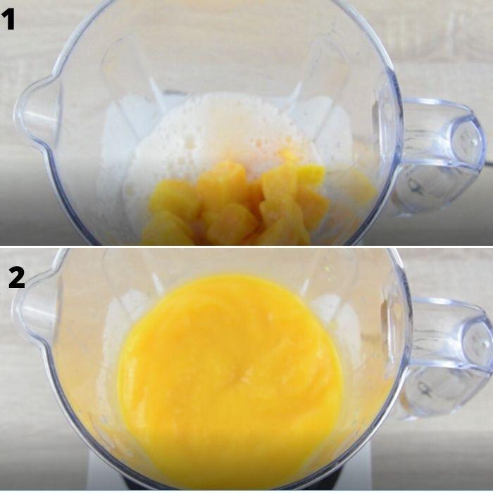 process of making mango lemonade.
