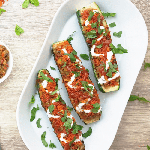easy stuffed zucchini boats