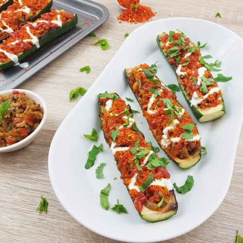 vegetarian-stuffed-zucchini-boats